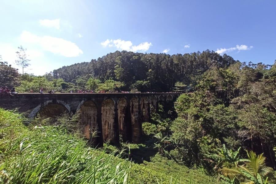9-арочный мост